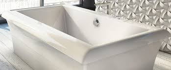 freestanding tub with air jets. bainultra origami® 7242 design series two person large freestanding air jet bathtub for your modern tub with jets
