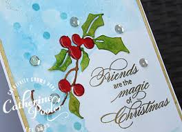 christmas card stencils masked stencils and watercolored holly christmas card catherine