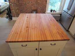 custom made butcher block kitchen island top