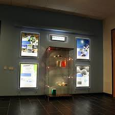 a2 property led window display acrylic lighting panels real estate agent cable hanging display system