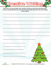christmas tree writing prompt worksheet com third grade holidays seasons worksheets christmas tree writing prompt