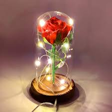 Enchanted Led Rose Light Details About Beauty And The Beast Rose Glass Enchanted Led Dome Light Decor Gift Girlfriend