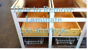 removing laminate countertops