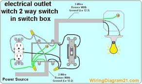 2 way switch electrical outlet wiring diagram how to wire outlet light switch