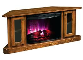 full image for corner entertainment center electric fireplace rustic oak stand