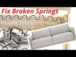 sofa couch spring repair diy spring
