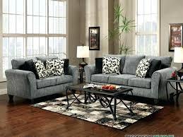 gray sofa with blue pillows velvet