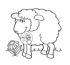 Small Picture Cute Sheep coloring page for kids animal coloring pages
