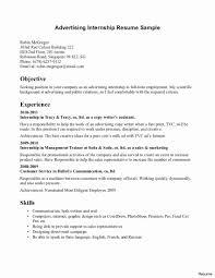 Resume Template For Internship Beautiful Resume Sample For Mft