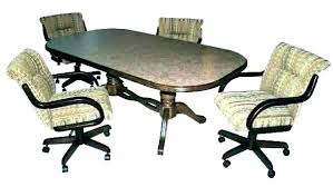 table and chairs with casters table and chairs with casters x gaming table chairs casters kitchen table chairs casters