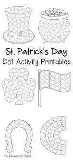 St. Patrick's Day Dot Activity Printables | Worksheets, Markers ...