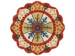 loloi rugs azalea az 01 3 0 round red ivory area rug