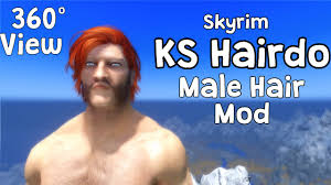 Skyrim Hair Style Mod 360 view skyrim ks hairdo 265 male hair mod full reference 7307 by wearticles.com