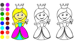Sweet Princess Coloring Game L Coloring Book Learn Colors For