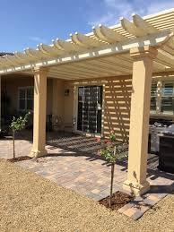 ultra patios las vegas lattice alumwood patio cover stucco post