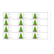 Christmas Gift Labels Templates Word How To Create Christmas Tree Gift Tags In Word