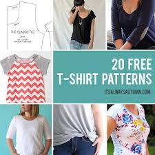 20 free <b>t</b>-<b>shirt patterns</b> you can print + sew at home - It's Always ...
