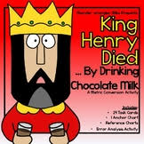 King Henry Died Drinking Chocolate Milk Chart King Henry Died By Drinking Chocolate Milk Worksheets