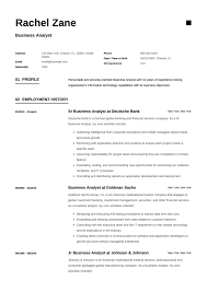 Business Analyst Resume Sample Template Example Cv Formal