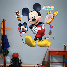 Mickey Mouse Clubhouse Bedroom Fathead Disney Mickey Mouse Clubhouse Wall Decal Reviews Wayfair