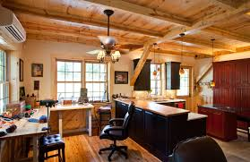 Office barn Converted Office Barn With Oklahoma Barn Home Cabin Traditional Home Office Interior Design Office Barn With Barn Office Barn Rustic Home Office Commercial Barn