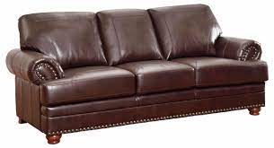 antique brown bonded leather sofa