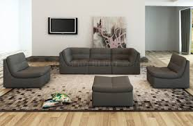 lego modular sectional sofa 6pc set in grey leather by j m