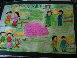 bbps bal bharati public school rohini maths in daily life  maths in daily life poster making by 7d