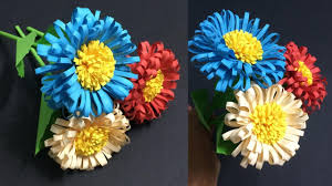Daisy Paper Flower How To Make Daisy Paper Flowers Making Beautiful Paper Flower Diy Paper Crafts