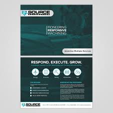 Creative Machine Designs Inc Bold Colorful Flyer Design For Source Automation Inc By