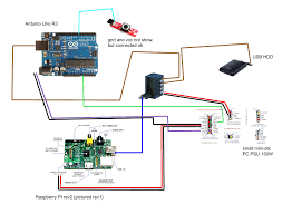 power supply how to connect together raspberry arduino pc psu connection drawing a pc psu provides power