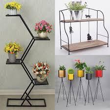 bedroom living room furniture coffee tea table metal flower pot rack plant display stand shelf
