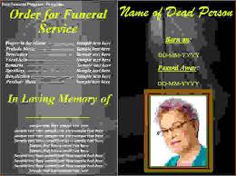 Free Download Funeral Program Template Amazing Memorial Service Program Examples Hcsclubtk