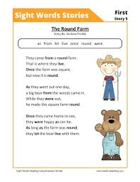 Reading Comprehension Worksheets X Save By Early Literacy Free ...