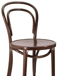 Thonet Style Bentwood Bar Stool Wood Seat Front View Detail Thonet Bar Stool15