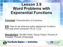 interesting algebra word problems lesson word problems with exponential functions