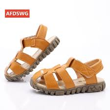 leather sandals boys 2019 100 soft leather in summer the new boys and girls children