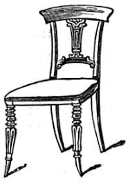 chair drawing. fancy chair drawing a