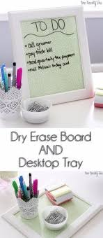 diy desk accessories for girls. Plain Diy DIY Home Office Decor Ideas  Dry Erase Board And Desktop Tray Do It  Yourself With Diy Desk Accessories For Girls