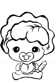 筆絵キャラ レタスの赤ちゃん イラスト素材 5276336 フォトライブ