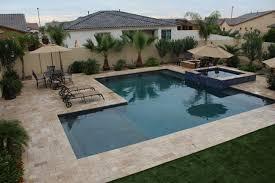 Custom Backyard Pool Designs L Shaped Pool In Arizona Custom Design Backyard Pool