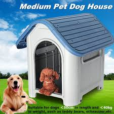 pet dog cat bed puppy outdoor indoor plastic house kennel animal shelter large