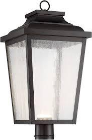 Lamp Post Lights Amazon Minka Lavery Outdoor Post Lights 72177 189 L Irvington Manor Exterior Post Lantern 1 Light Led 13 Watts Chelesa Bronze