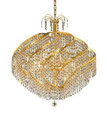 spiral 15 light gold chandelier clear spectra swarovski crystal