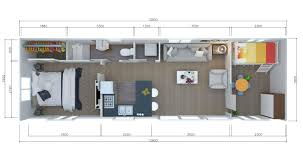 Illustration Of The Interior Floor Plan For 2 Or 3 Bedroom Tiny House With  Double Bed