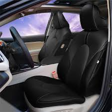 kust zd3100r car seat covers custom fit seat covers fit for toyota camry 2018 leather auto seat covers for full set 4pcs saddle cover 4pcs back cover 5pcs
