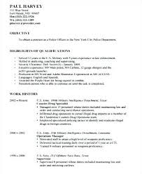 Police Officer Resume Template Awesome Sample Law Enforcement Resumes Law Enforcement Sample Resume