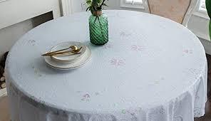 tablecloths round standard extraordinary argos mid tree common cotton sizes plastic inches measure bulk kmart modern