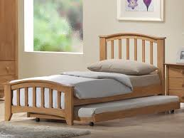 Wood Single Bed With Trundle Home Design Furniture Exclusive