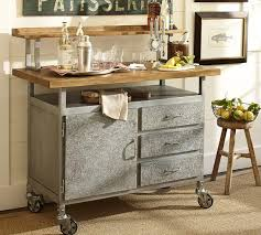 industrial kitchen furniture. Industrial Style Steel And Wood Table Cart Kitchen Furniture